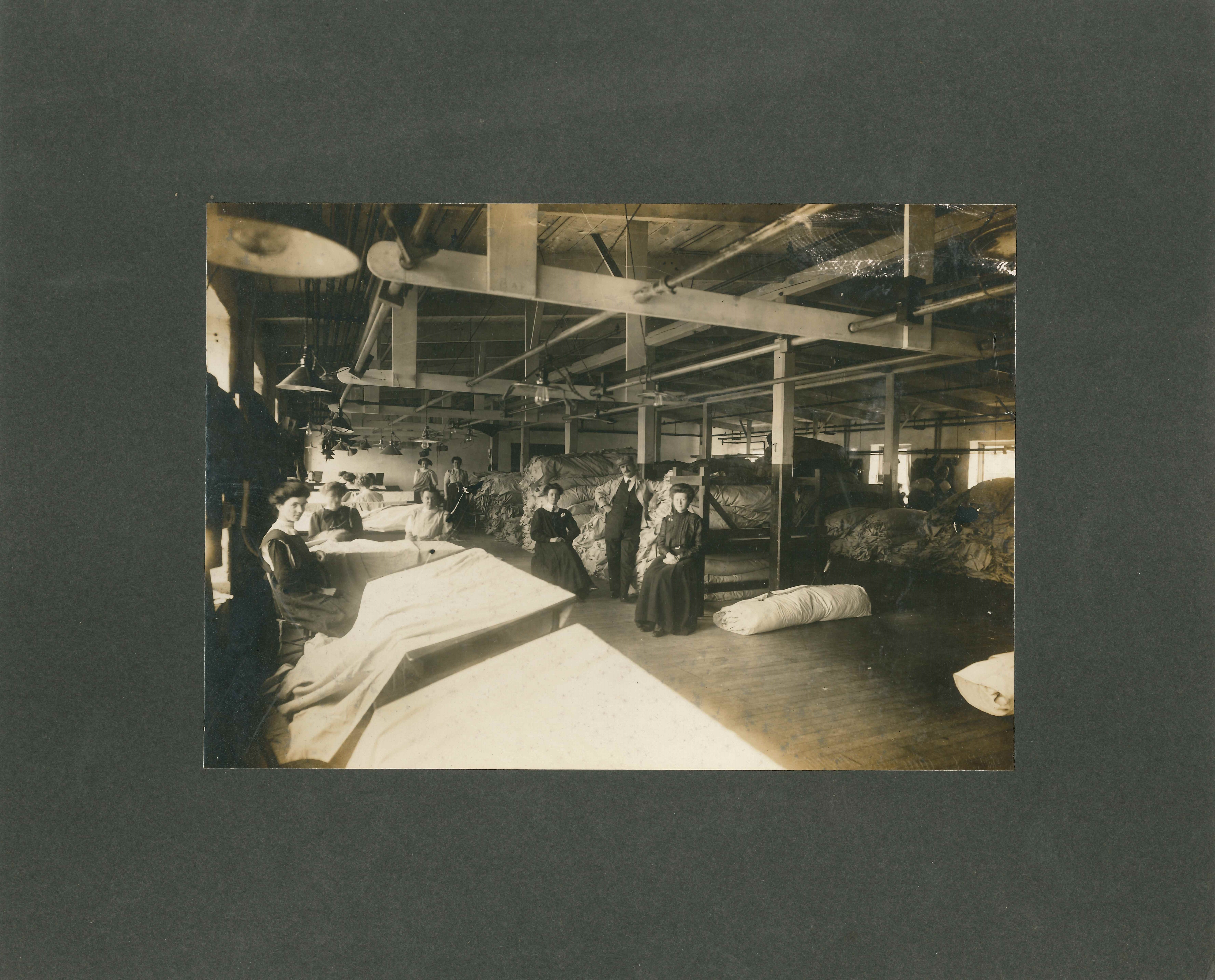 women mill workers in mill
