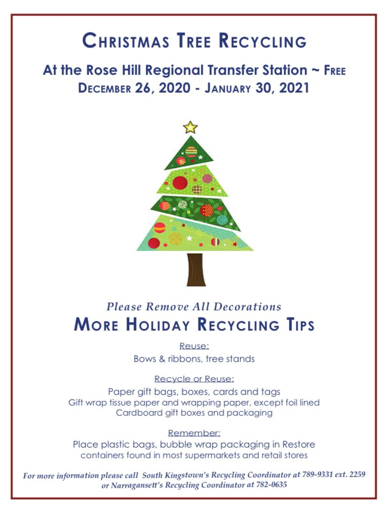 Tree recycling flyer